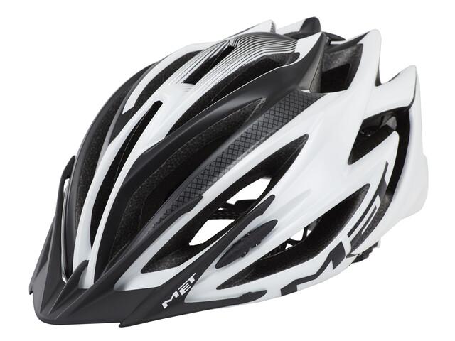 MET Veleno Cykelhjälm matt vit/svart